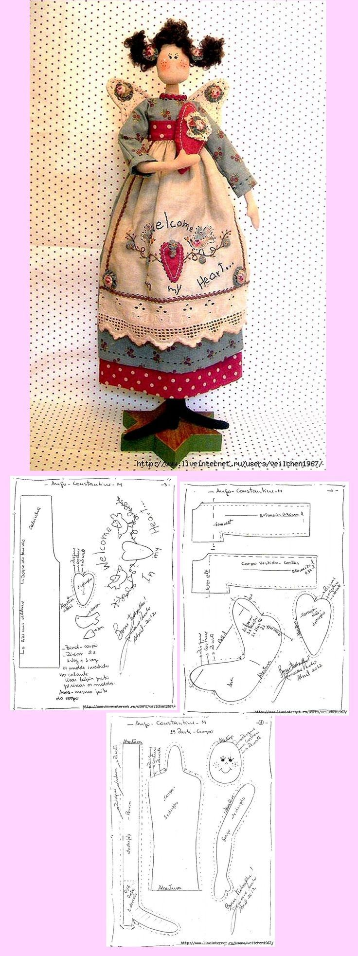Country cuteness...and a free pattern, too!: