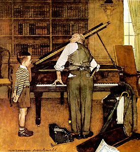 Original Norman Rockwell Paintings | Norman Rockwell F THE Piano Tuner Classic ART Painting Print | eBay