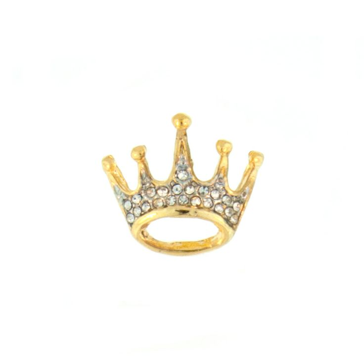 small & elegant golden crown brooch. a perfect touch of bling for any outfit.