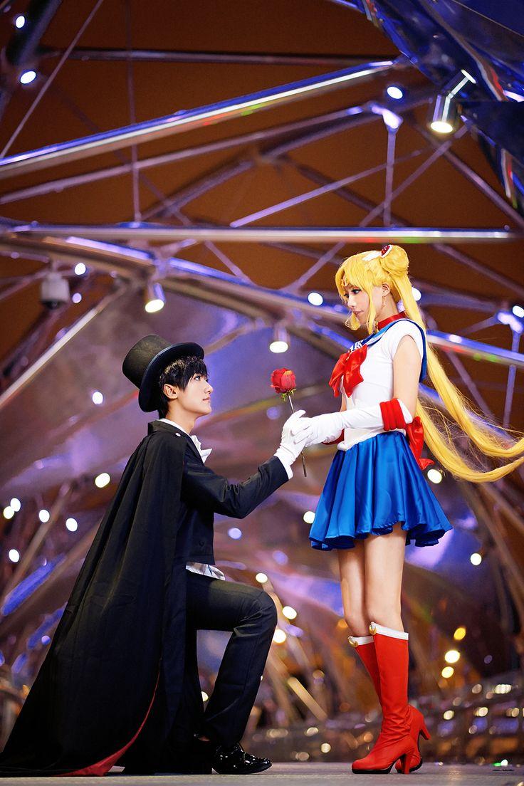 Sailor Moon Crystal - herotenka(DD-TENKA) Sailor Moon, BAOZI and HANA(包子 & HANA) Tuxedo Mask Cosplay Photo - WorldCosplay