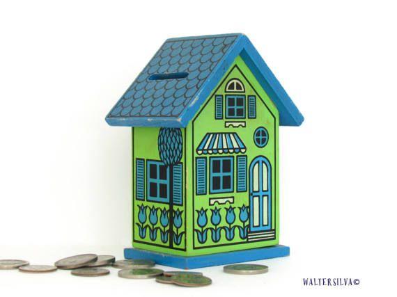 Vintage House Coin Bank  Retro Home Savings Bank  by WalterSilva
