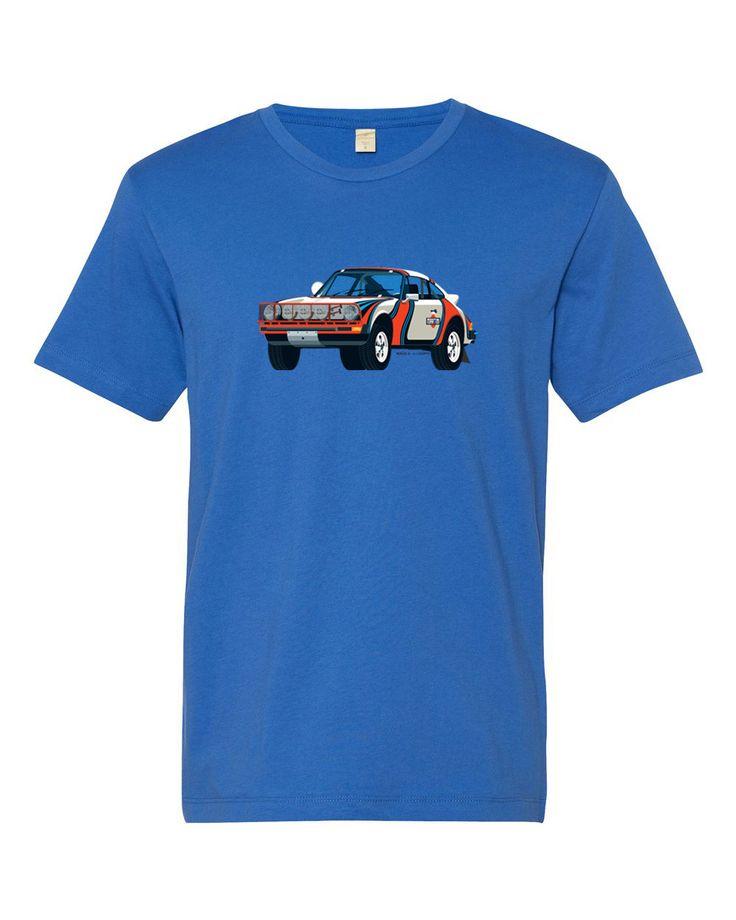 Porsche 911 SC Safari T Shirt Car In Martini Livery Porsche Martinis And