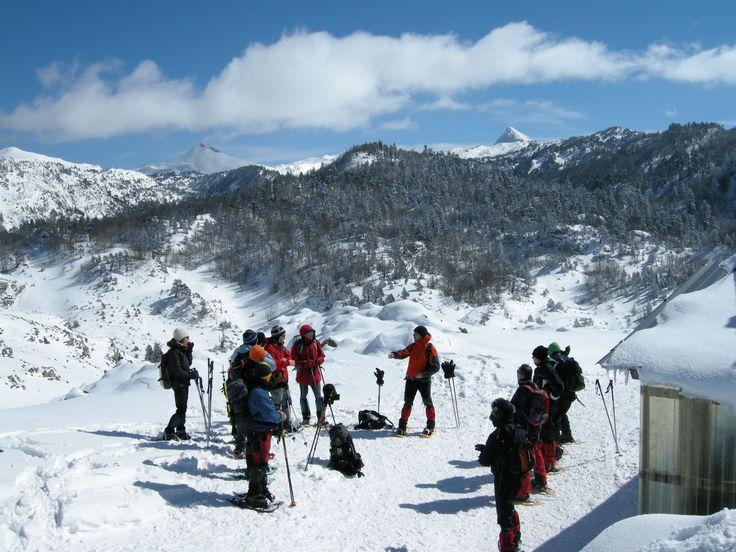 Raquetas de Nieve Pirineos.  Guías de Montaña Navarra. Mirua Actividades de Naturaleza