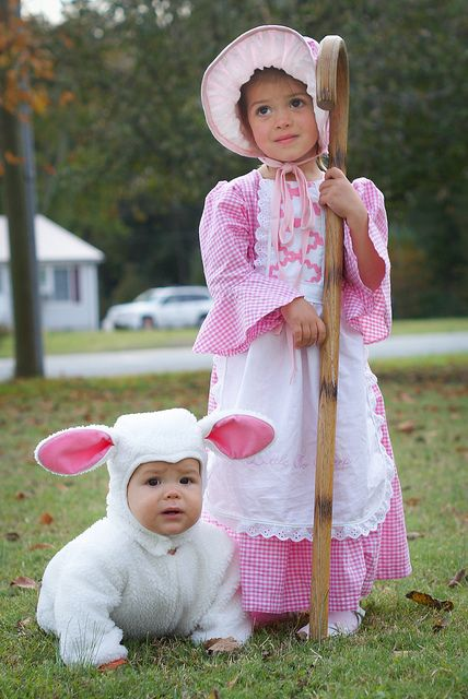Mary had a little lamb costume. This is what Rachel and Kyla went as 24 years ago!