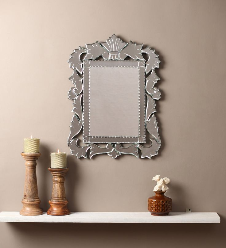 Aleah Silver MDF Mirror #mirrors #mirror #reflectors #show #pinit #pinterest #shazliving Shop at: https://www.shazliving.com/