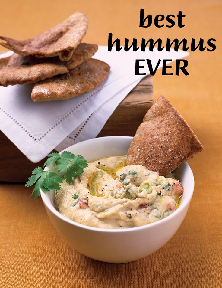 Spiced-Up Hummus | Martha Stewart Living - The ginger, cumin, and cilantro in this recipe are great anti-inflammatories, and the chickpeas are full of fiber. Serve with toasted whole-grain pita crisps.