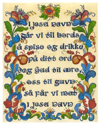 Norweigan Prayer...my grandma use to say this when I was little.