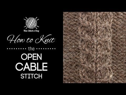 How to Knit the Open Cable Stitch (+afspeellijst)