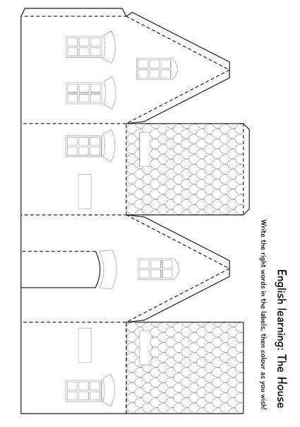 7 Ideas y moldes para hacer bonitas casitas navideñas de papel