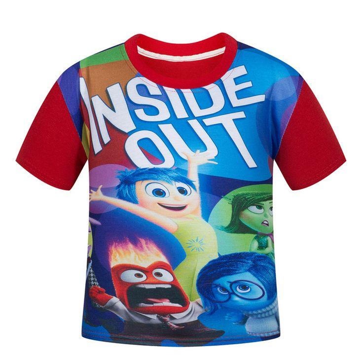 >> Click to Buy << High Quality Summer 2017 Cotton% Boys inside out T Shirt Bape Kids Cartoon T Shirts Clothes Chidren Boy T-Shirts Trolls Clothing #Affiliate