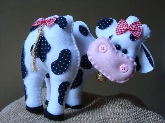 molde vaca feltro - Pesquisa Google