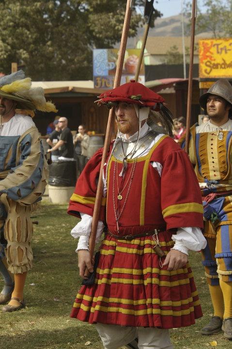 Landsknecht in waffenrock at 2009 Northern California Renaissance Faire