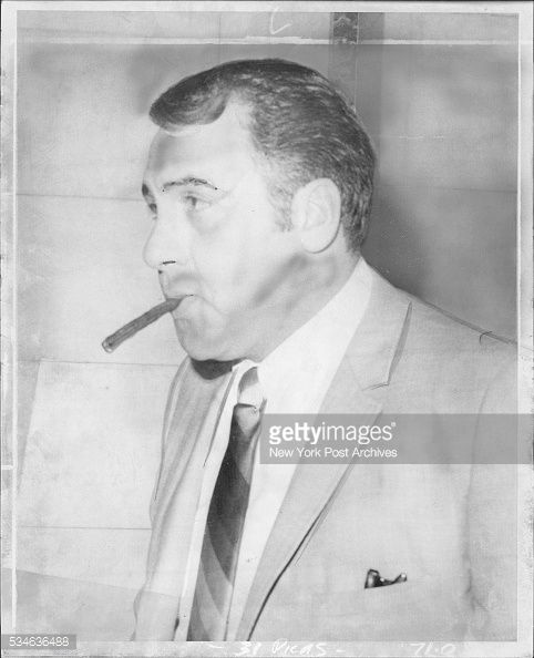 """1970 picture of Dominick Scialo (born July 11, 1927 - murdered 1974) known as """"Mimi, a feared and well respected capo of the Colombo crime family who ruled over Coney Island, controlling gambling, shylocking and other rackets for the Colombo family during the late 1960s until his murder in the mid 1970s. He was known to many as """"The King of Coney Island""""."""