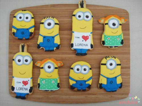 Minions cookies Galletas Minions... utilizando modelos de Julia de Postreadiccion!