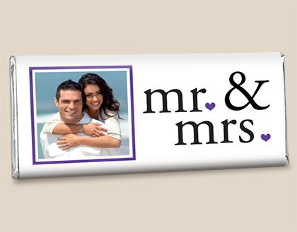 Chocolate Wedding Favors: Their Introduction Customized Candy Bar Wrappers Front