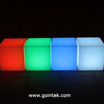 Led rumble stool,led cube bench,plastic bar stool modern ottomans and cubes