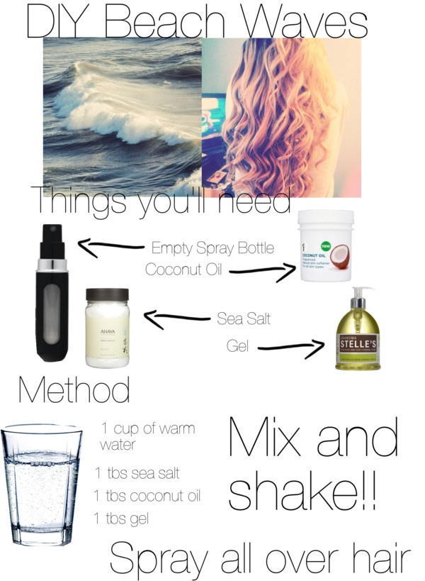 """""""DIY Beach Waves"""" by angelinaballerinaxoxo ❤ liked on Polyvore"""