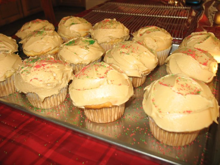 GF Vanilla cupcakes with homemade caramel frosting using ...