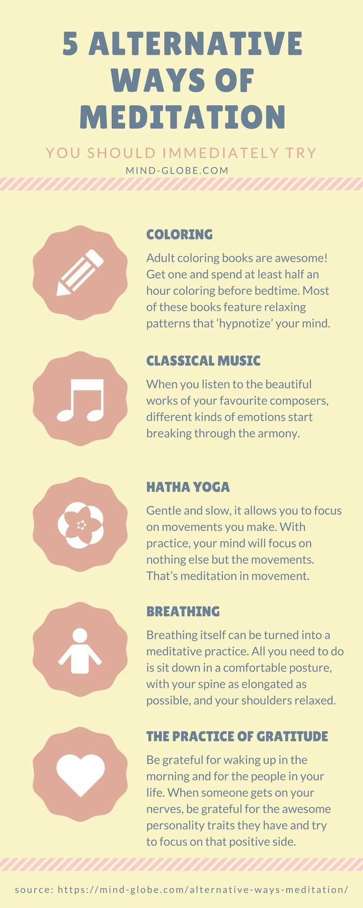 5 Alternative Ways of Meditation You Might Immediately Try #meditation #mindfulness #mentalwellness