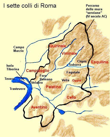Rome's 7 Hills - I sette colli di Roma