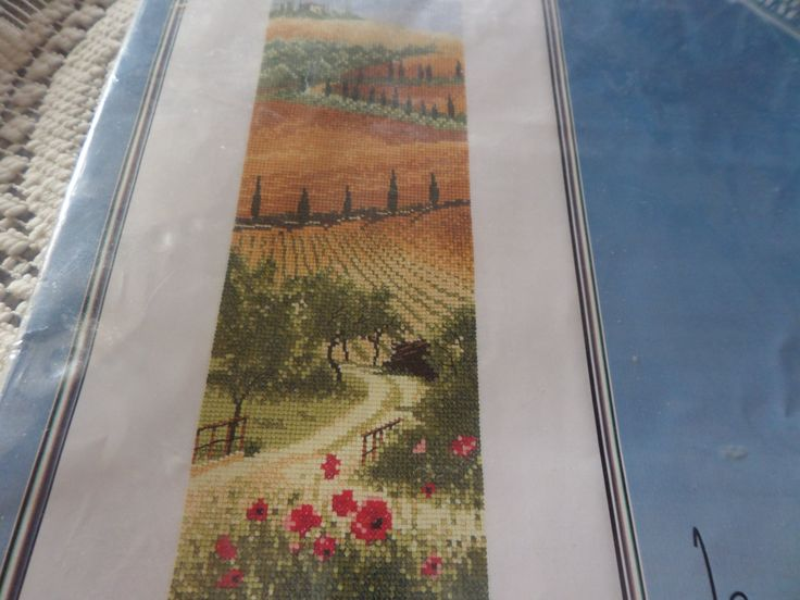 Cross stitch kit, complete kit, John Clayton,  International series, Tuscany, Heritage Stitchcraft, 27 count canvas,  landscape design by MaddisonsRainbow on Etsy