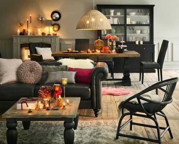 idees deco noel manteau cheminee accueil design et mobilier. Black Bedroom Furniture Sets. Home Design Ideas