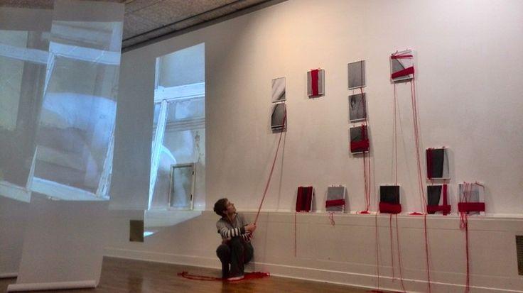 Roger Bygott - 'Body Stories', collaborative performance/installation, with dancer Gerry Turvey, Huddersfield Art Gallery, (Installation detail) 2013.