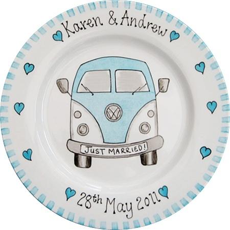 Wedding Gift Plate - Camper Van by bluebelle create