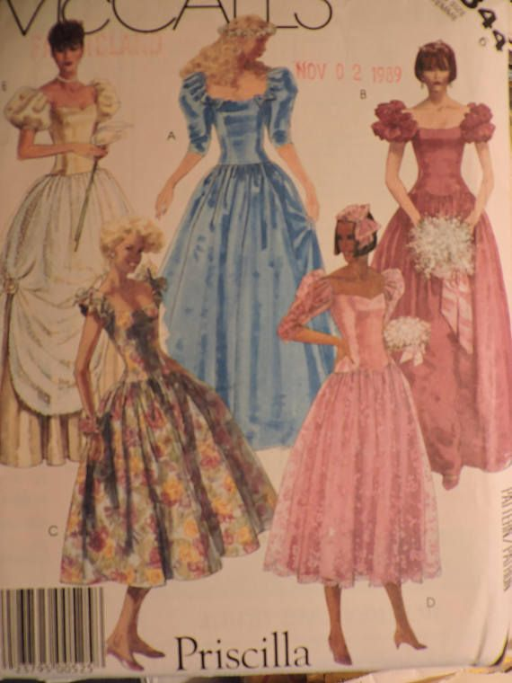 Gown Dress Classic Fashion Priscilla Design McCall's 2344