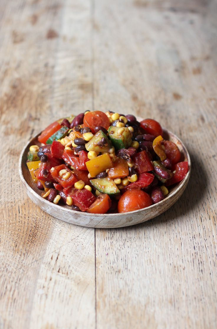 Healthy, spicy and full of flavour! This Vegan + Gluten Free Mexican Bean Salad is one of my absolute favourite dishes to make!
