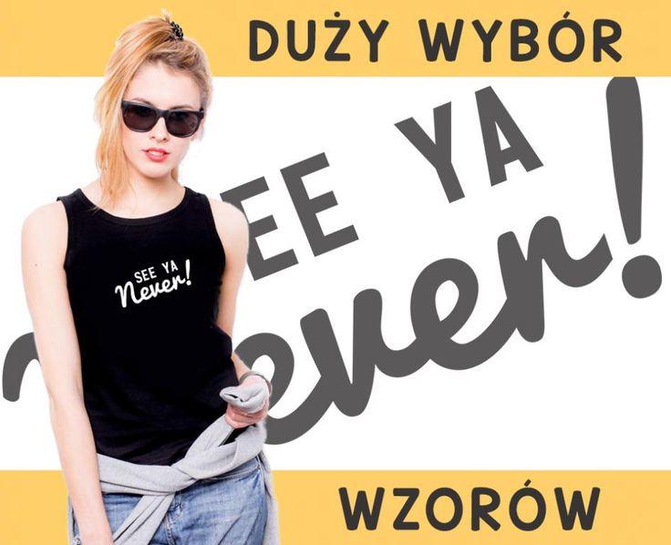 KOSZULKA top BOKSERKA damska S CZARNA NOWE WZORY
