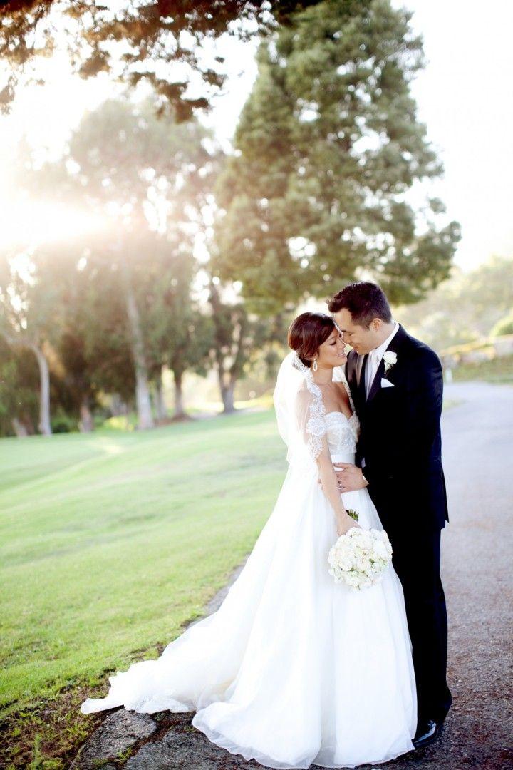 POST: SECURING THE VEIL!  Romantic Formal California Wedding from Ethan Yang - wedding dress