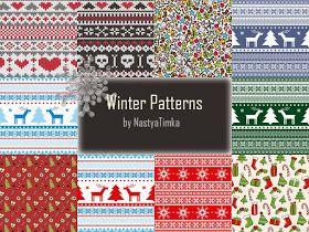 My Sims 3 Blog: Winter Patterns by Nastya Timka