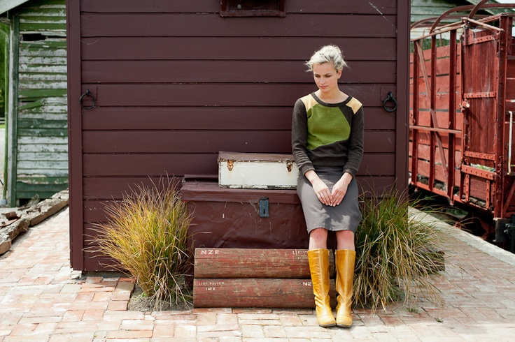 bold colour-blocked panel this is our chalkydigits meteorite woollen jumper bound to brighten any winters day, team it with a staple for your wardrobe, our tractor skirt featuring industrial design and durable drill makes this one long-lasting piece - all made right here in nz