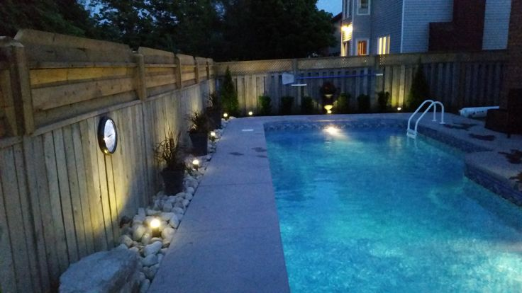 Small Low Maintenance Landscaping by a pool