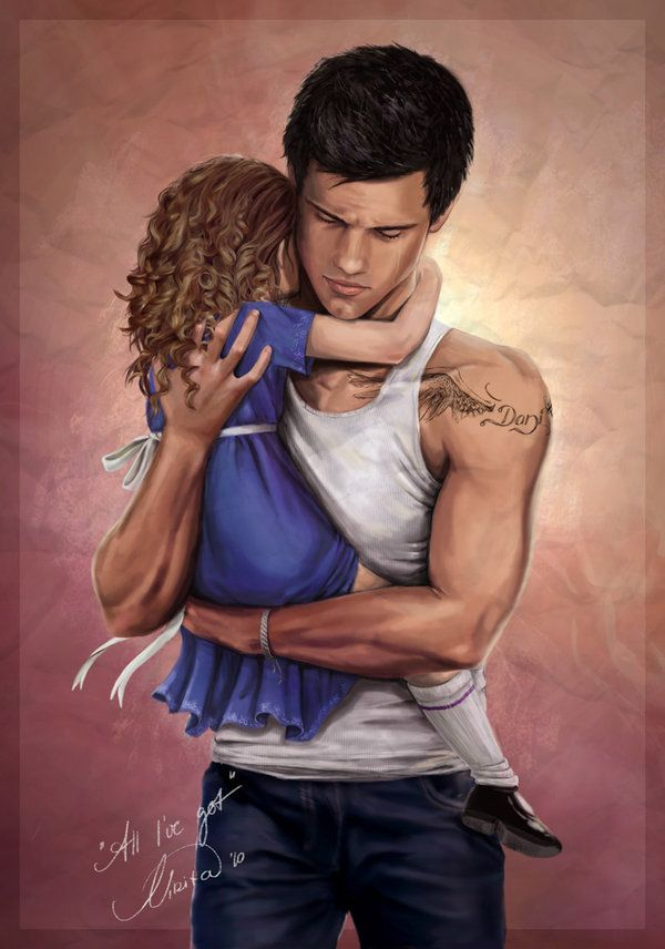 Jacob and Renesmee. Stunning The Twilight Saga: Breaking Dawn - Part 2 fan art. I love this one!!