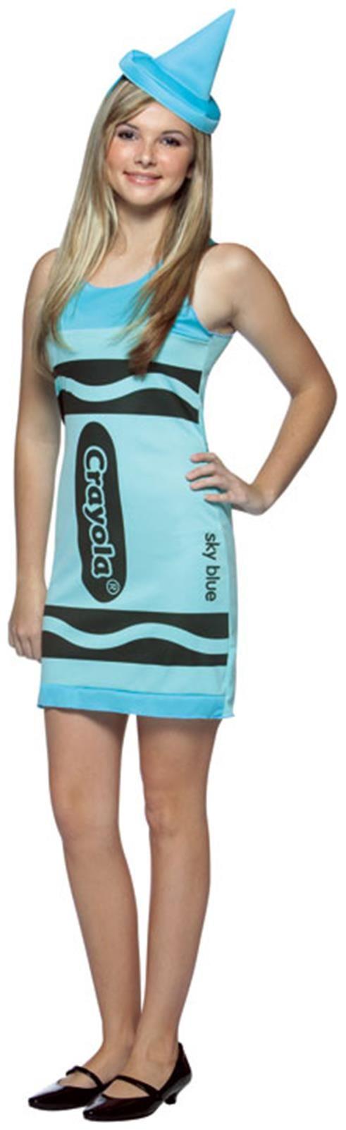 PartyBell.com - Sky Blue Crayola Crayon Teen #Costume