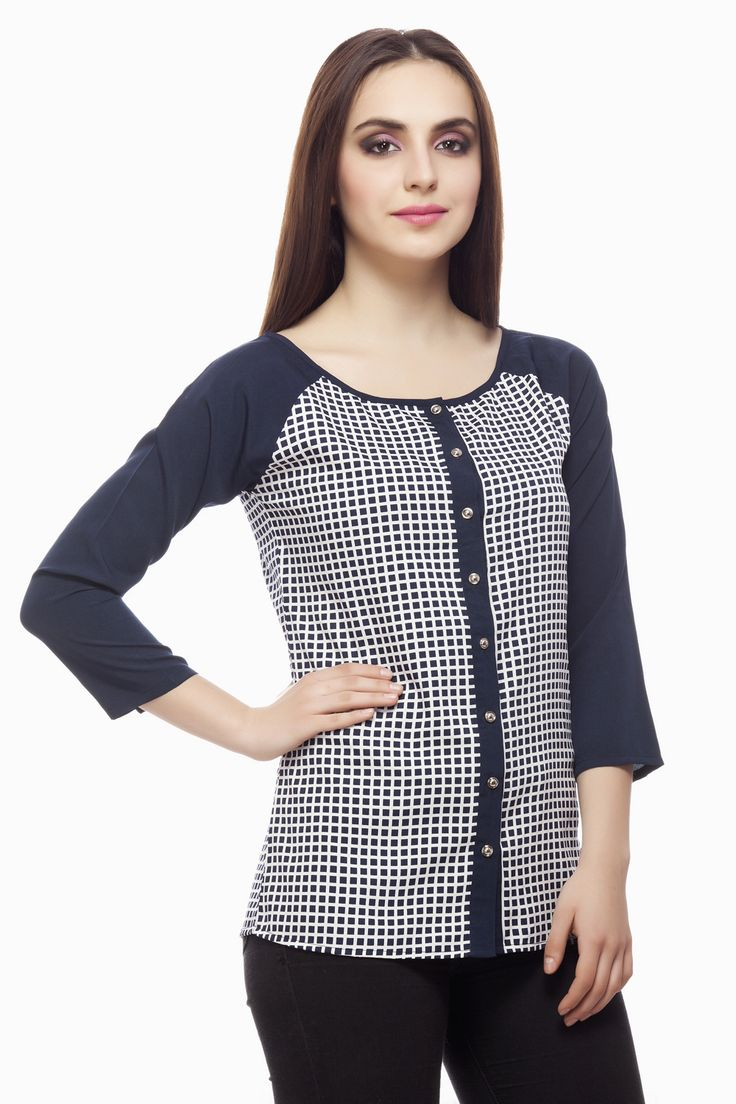 Check Print Blouse From Miss Queen