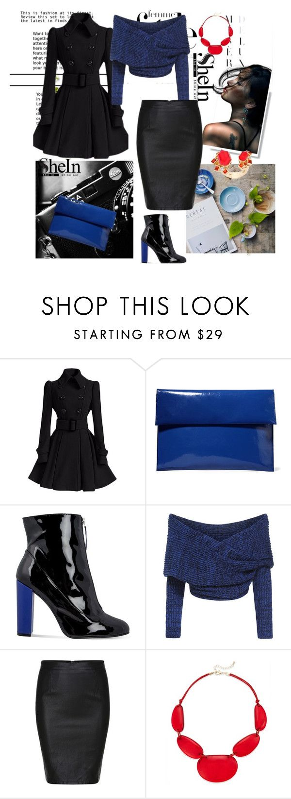 """Black Split Slim PU Skirt"" by autumn-soul ❤ liked on Polyvore featuring Marni, Carvela, Style & Co., Stephen Webster, women's clothing, women's fashion, women, female, woman and misses"
