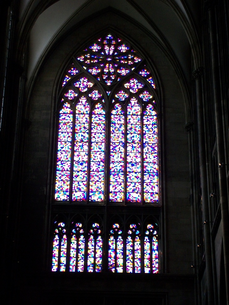 Gerhardt Richter's beautiful window, in the Dom, Koeln, Germany
