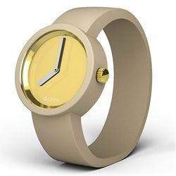 O clock watch - Gold face with Dove strap