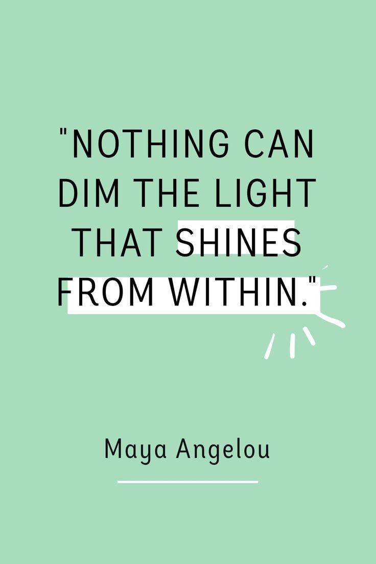 """""""Nothing can dim the light that shines from within."""" - Maya Angelou #madewithover"""