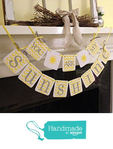 You Are My Sunshine Banner, Birthday Banner child's room decor, sunshine sign garland Baby shower decoration, nursery decoration chevron yellow and gray or CUSTOM COLORS from ClassicBanners http://www.amazon.com/dp/B01AN2Z1M6/ref=hnd_sw_r_pi_dp_oEY2wb1M7JVMH #handmadeatamazon