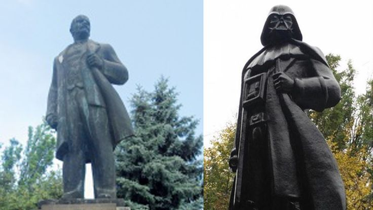 A Vladimir Lenin statue has been transformed into Darth Vader | The Verge