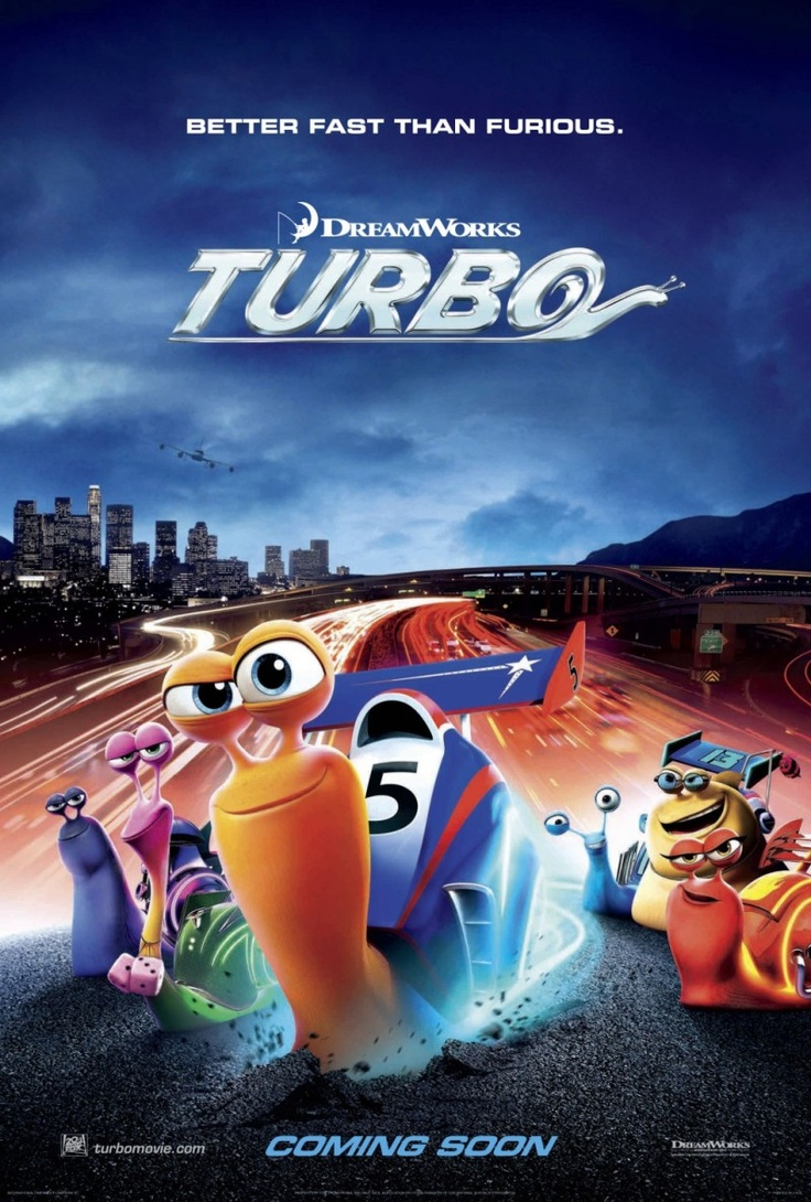 Turbo...saw this at the drive ins tonight-very cute movie :) kids loved it!!