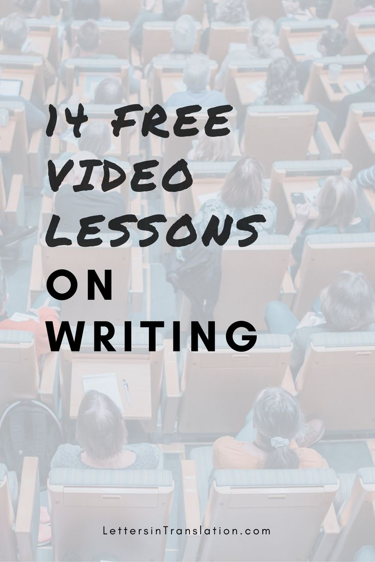 14 Free Video Lessons on Writing - Letters in Translation | Youtube is a school. You have easy access to countless resources on any topic you want to learn today. Start typing and digging in! You will never know what you will become at the end of the day.
