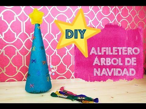 HACER UN ALFILETERO ÁRBOL DE NAVIDAD - DIY - Skarlett Costura