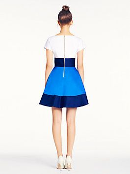 Wish my last name was Spade. Fiorella dress, fresh white/french navy/azure blue