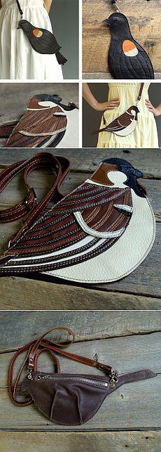Птичья тема: пташки для сумочек / Сумки, клатчи, чемоданы / Модный сайт о стильной переделке одежды и интерьера