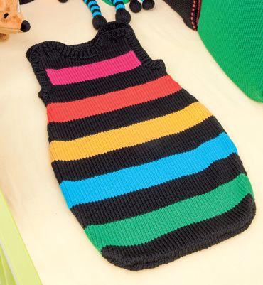 Modèle gigoteuse multicolore 25% laine